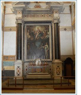 Cappella con altare, opera di Filippo Paladini